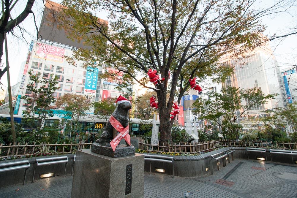 サンタのいるハチ公前広場