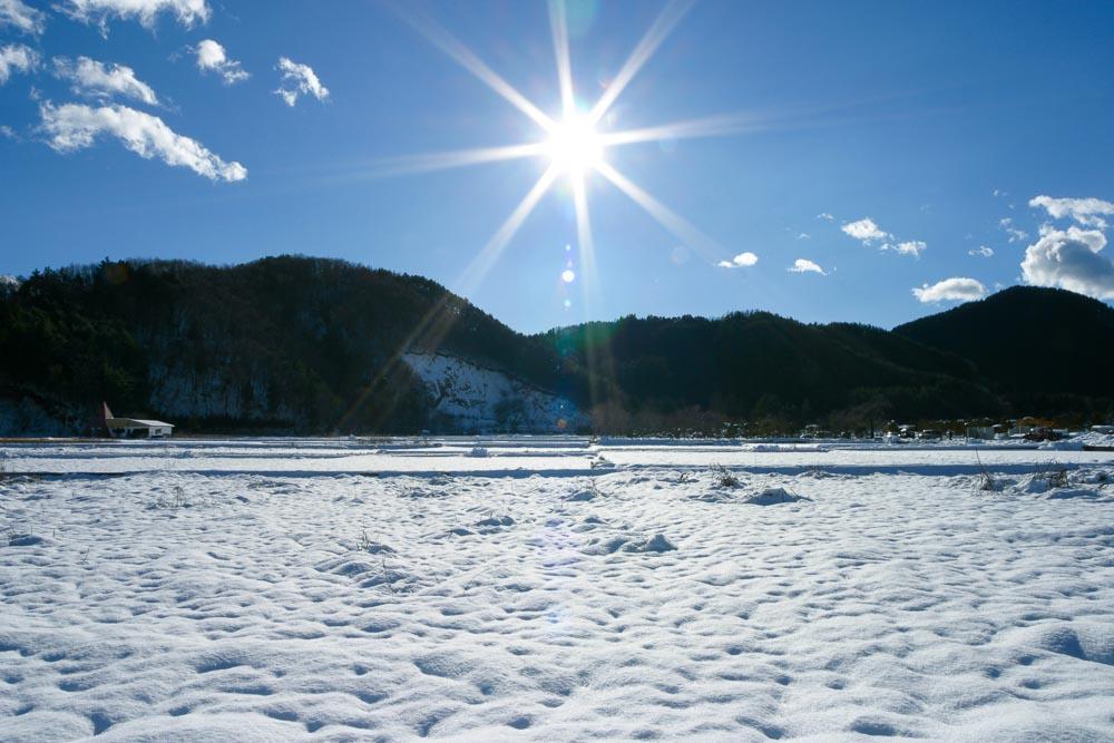 雪原と太陽